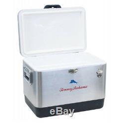 Tommy Bahama Glacière Portative En Acier Inoxydable D'une Capacité De 85 Litres, Argent
