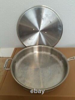 Tous Clad Acier Inoxydable Core Cuivre 6 Quart Sauté Poêle À Frire + Couvercle. 13,5 Pouces