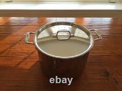 Tous Clad D3 Tri-ply Stainless-steel 12 Quart Stock Pot Avec Couvercle