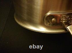 Tous Clad D5 Stainless Brossé 4 Litres Sauce Pan Withloop & LID Bd55204 Factory 2ème