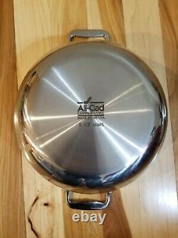 Tous Les Noyaux De Cuivre Clad 5,5 Qt Quart Dutch Oven Avec Couvercle Bombé Acier Inoxydable Nouveau