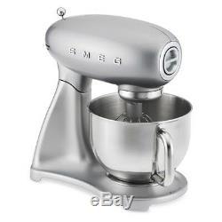 Tout Neuf Smeg 600 Watt 5 Bowl 1950 Quart Style Retro Pro Stand Silver Mixer