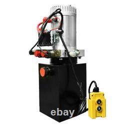 Unité Alimentation Hydraulique Double Effet 12v DC Dump Trailer 6 Pintes Avec Télécommande