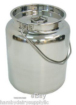 Vente! Bidon De Stockage Et De Transport En Acier Inoxydable, 2 X 2,5 Gallons, 10 Pintes