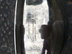 Véritable Saladmaster 316ti Titane En Acier Inoxydable 5 Quarts Wok Avec Couvercle Et Poignées