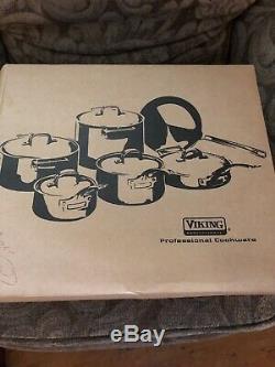 Viking Vsc0685 8-1 / 2 Quart En Acier Inoxydable Sauce Pot 7ply Avec Couvercle