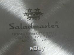 Vintage Saladmaster Tp304s 5 Étoiles Ss Roaster Énorme Marmite 16 Pintes Withlid