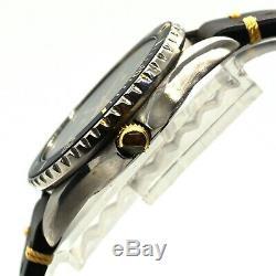 Vintage Tag Heuer Hommes De Plongée Diver Pintes En Acier Inoxydable Montre-bracelet 980.029b