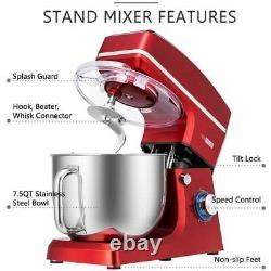 Vivohome 7.5 Quart Stand Mixer, 660w 6-speed Tilt-head Kitchen Electric Food MIX