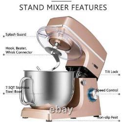 Vivohome 7.5quart Stand Mixer 660w 6-speed Tilt-head Kitchen Electric Food Mixer