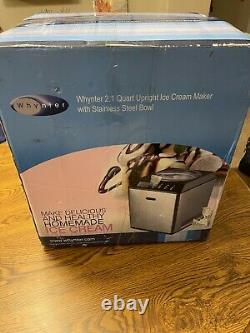 Whynter 2.1 Quart Acier Inoxydable Icm-201sb Upright Automatic Ice Cream Maker