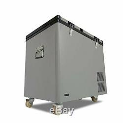 Whynter 90 Pintes Dual Zone Portable Réfrigérateur / Congélateur Avec Roues Nouveau