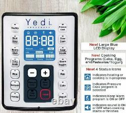 Yedi 9-en-1 Total Package Instant Programmable Pressure Cooker, 6 Quart, Argent